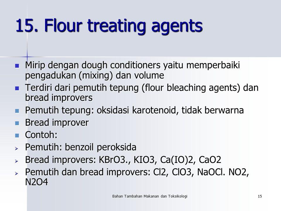 Bahan Tambahan Makanan dan Toksikologi