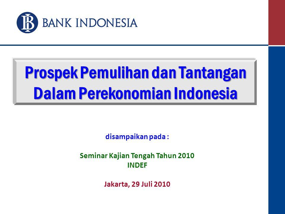 Prospek Pemulihan dan Tantangan Dalam Perekonomian Indonesia