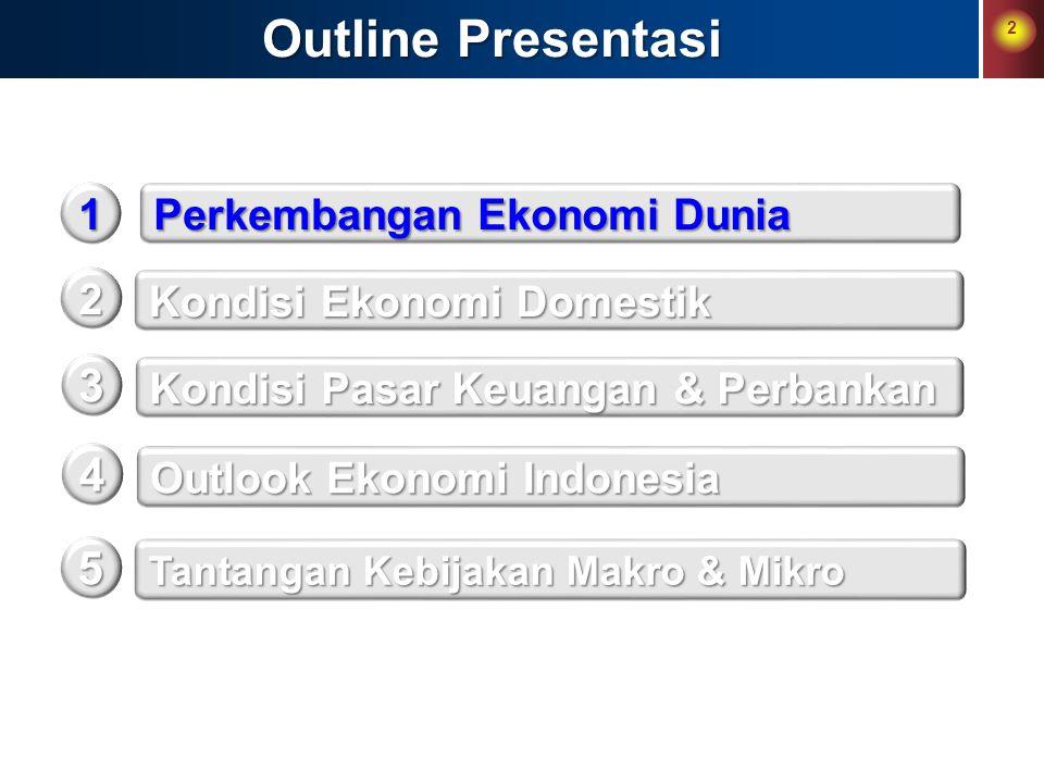 Outline Presentasi 3 4 5 1 Perkembangan Ekonomi Dunia 2