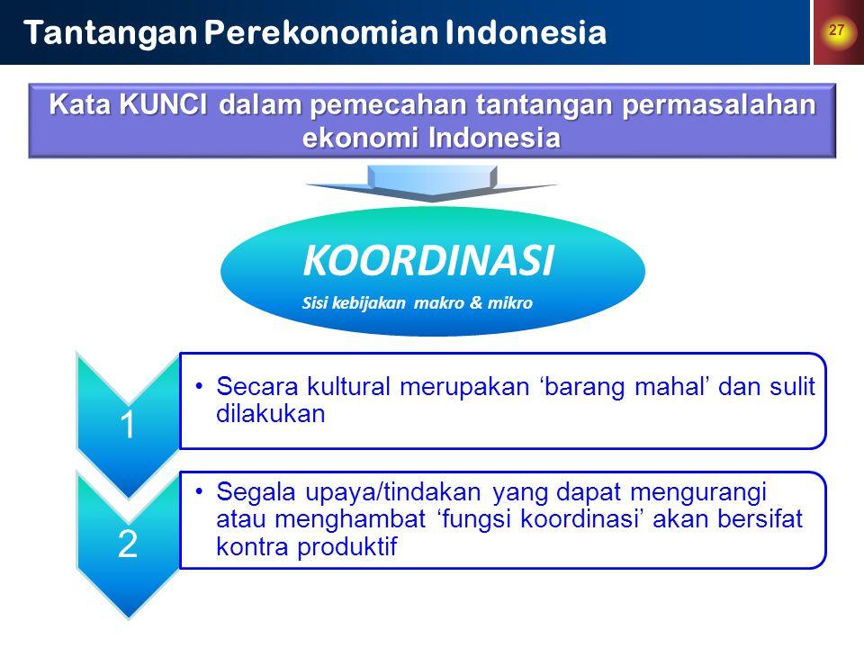 Kata KUNCI dalam pemecahan tantangan permasalahan ekonomi Indonesia