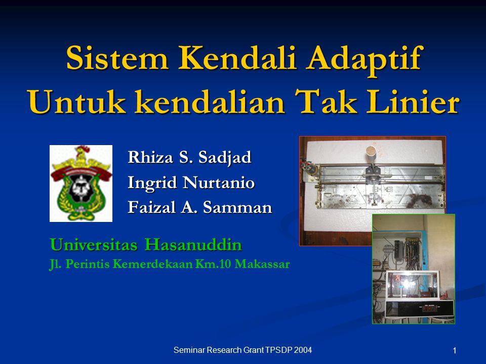 Sistem Kendali Adaptif Untuk kendalian Tak Linier