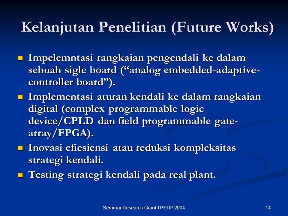 Kelanjutan Penelitian (Future Works)