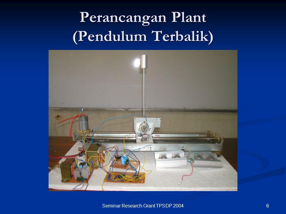 Perancangan Plant (Pendulum Terbalik)
