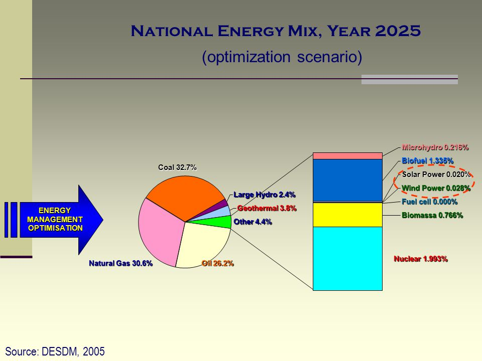 National Energy Mix, Year 2025
