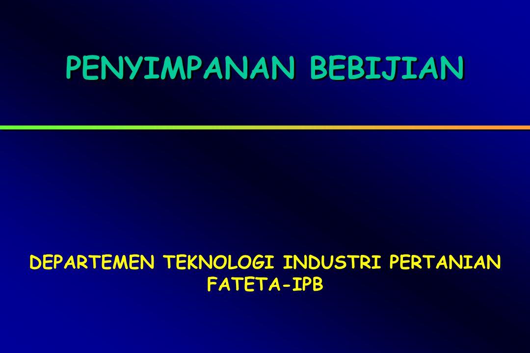 DEPARTEMEN TEKNOLOGI INDUSTRI PERTANIAN FATETA-IPB