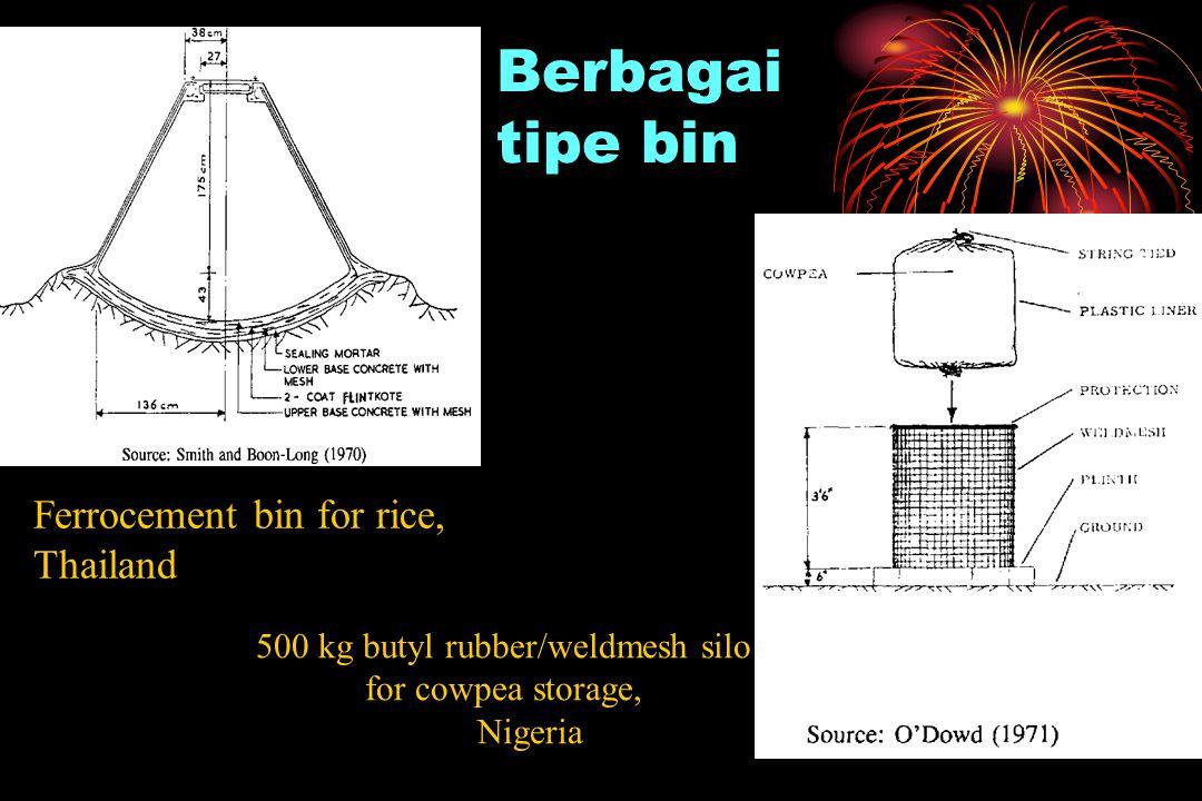 500 kg butyl rubber/weldmesh silo for cowpea storage,