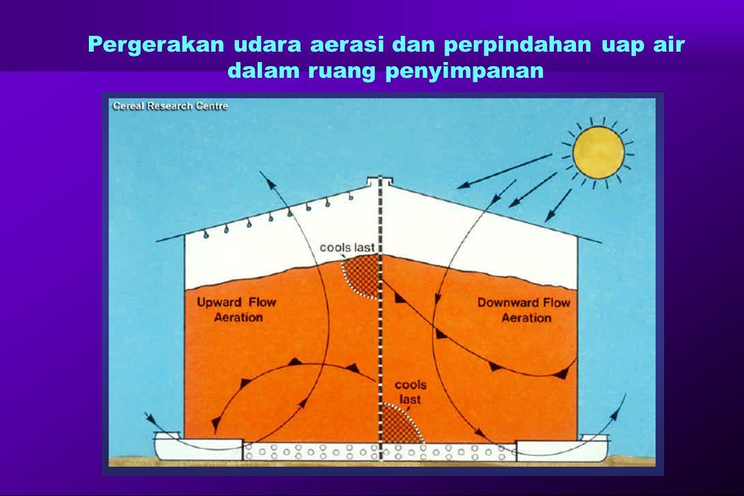 Pergerakan udara aerasi dan perpindahan uap air dalam ruang penyimpanan