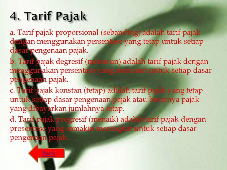 4. Tarif Pajak