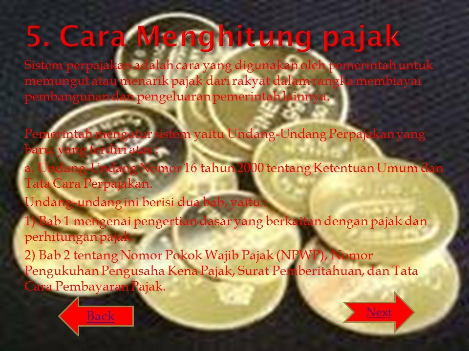 5. Cara Menghitung pajak