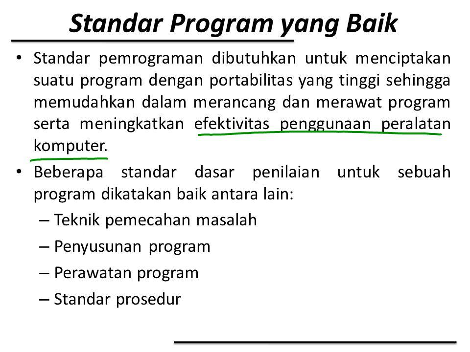 Standar Program yang Baik