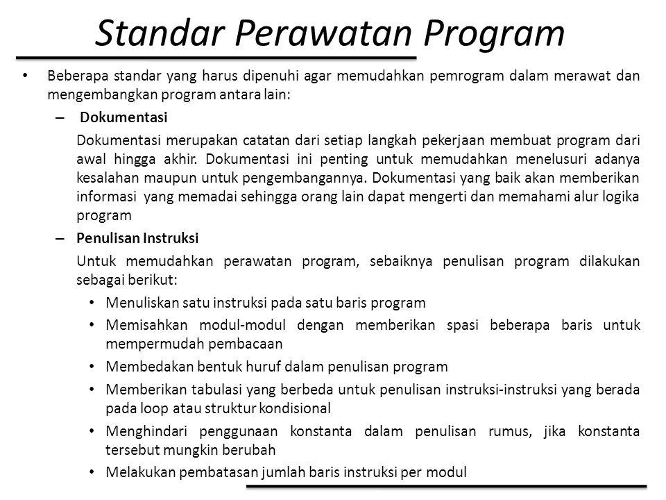 Standar Perawatan Program