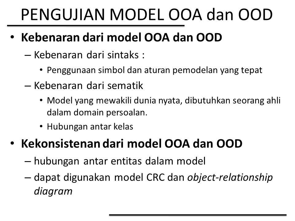 PENGUJIAN MODEL OOA dan OOD