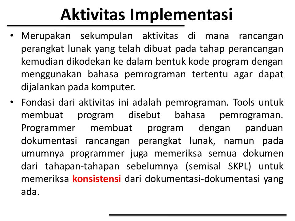 Aktivitas Implementasi
