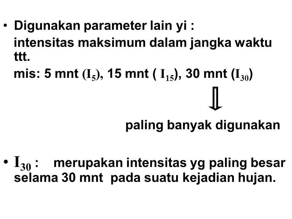 Digunakan parameter lain yi :