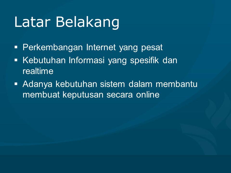 Latar Belakang Perkembangan Internet yang pesat