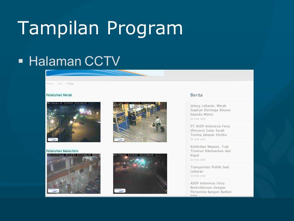 Tampilan Program Halaman CCTV