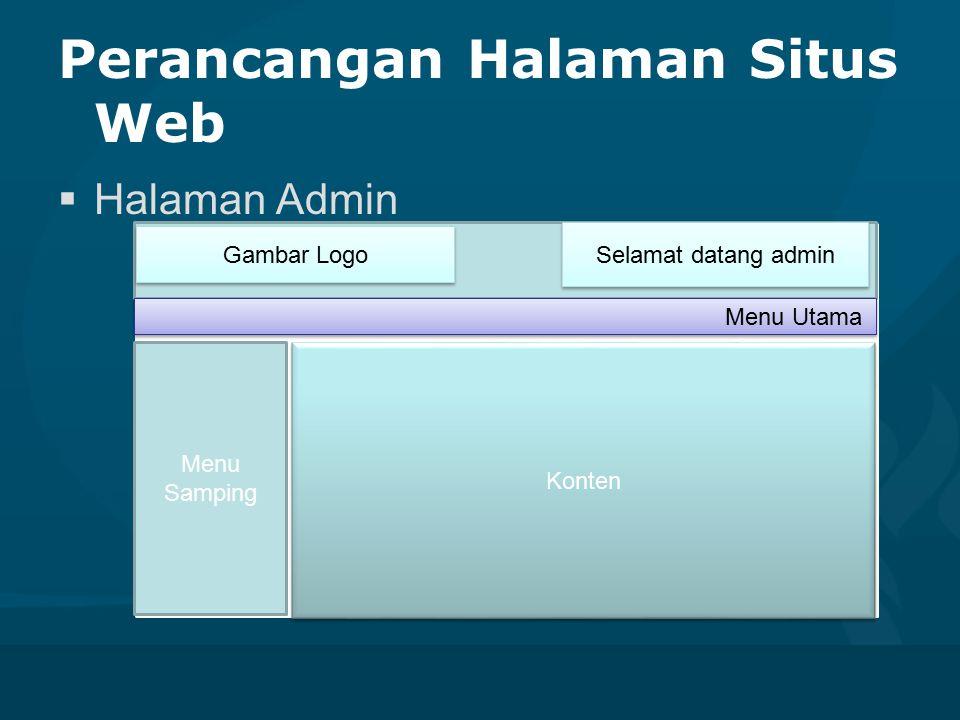 Perancangan Halaman Situs Web