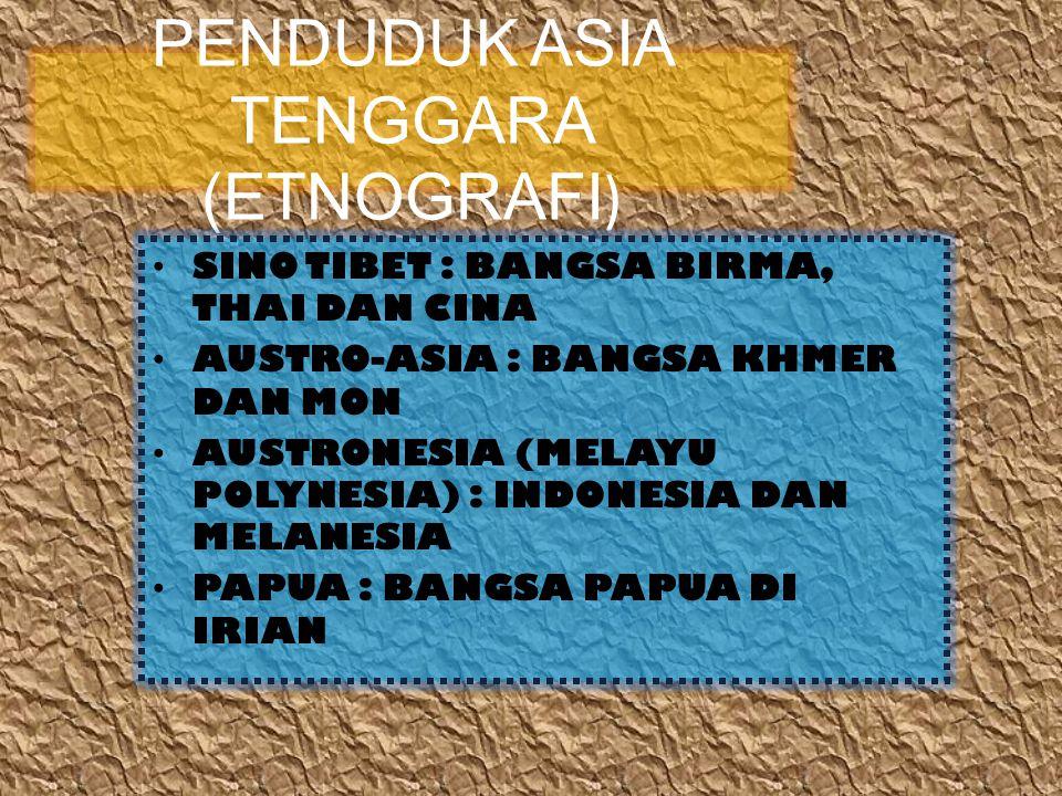 PENDUDUK ASIA TENGGARA (ETNOGRAFI)