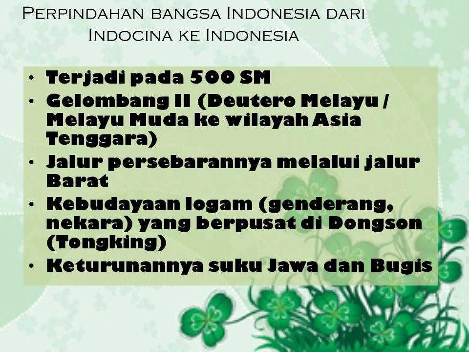 Perpindahan bangsa Indonesia dari Indocina ke Indonesia