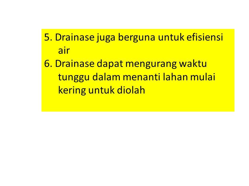 5. Drainase juga berguna untuk efisiensi air