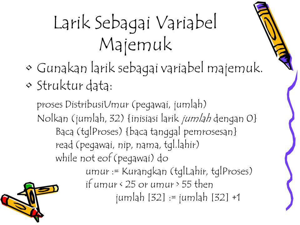 Larik Sebagai Variabel Majemuk