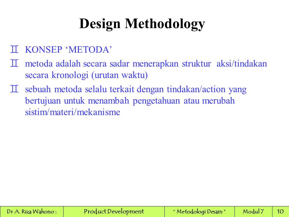 Design Methodology KONSEP 'METODA'