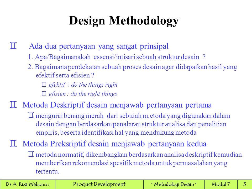 Design Methodology Ada dua pertanyaan yang sangat prinsipal