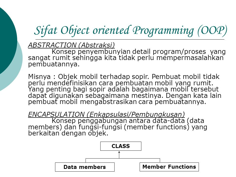 Sifat Object oriented Programming (OOP)