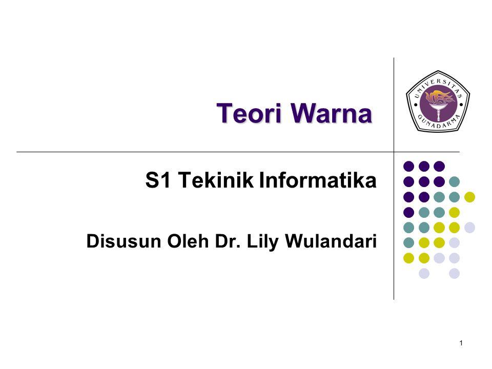 S1 Tekinik Informatika Disusun Oleh Dr. Lily Wulandari