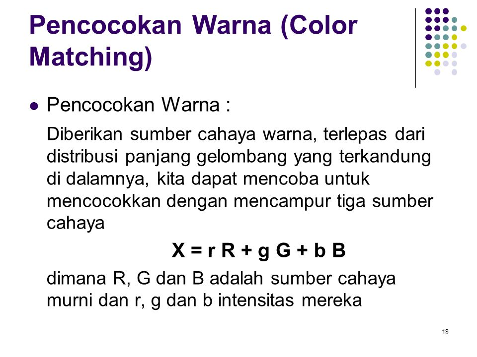Pencocokan Warna (Color Matching)