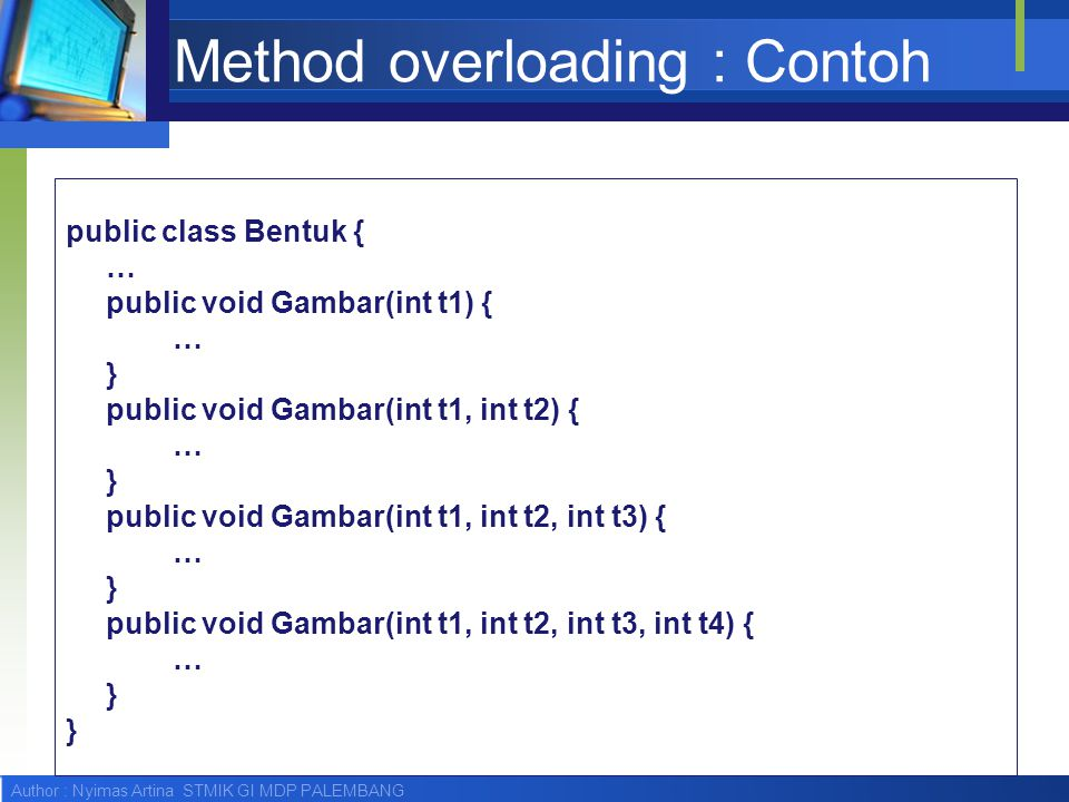 Method overloading : Contoh