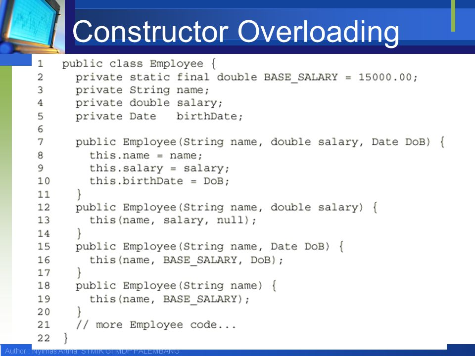 Constructor Overloading