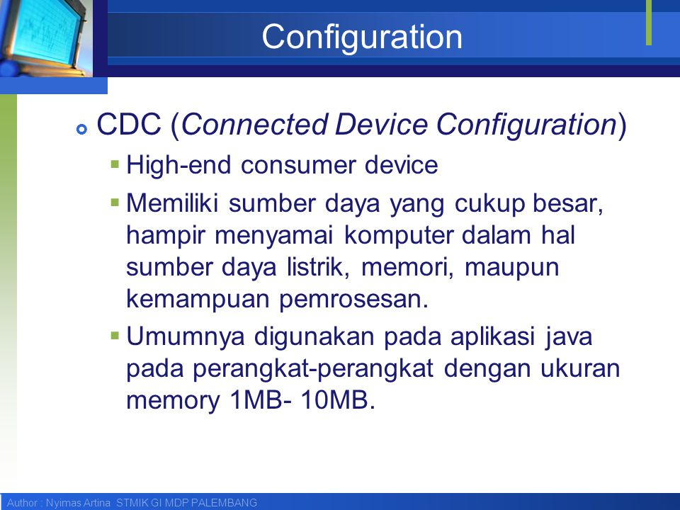 Configuration CDC (Connected Device Configuration)