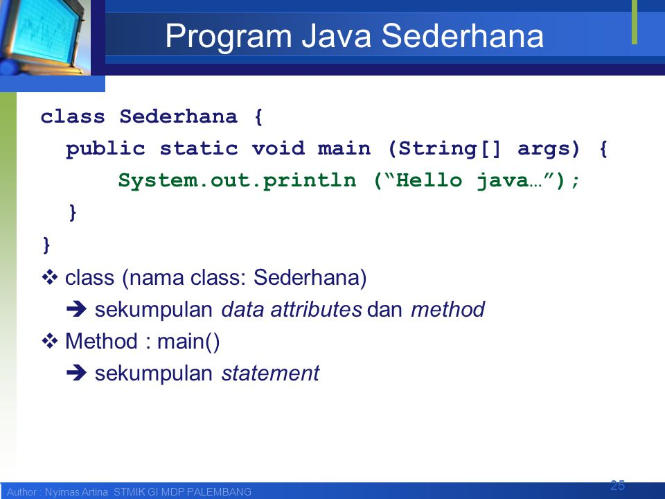 Program Java Sederhana