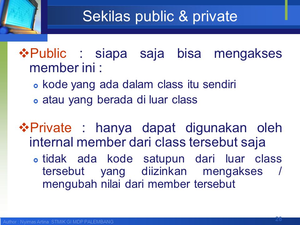 Sekilas public & private