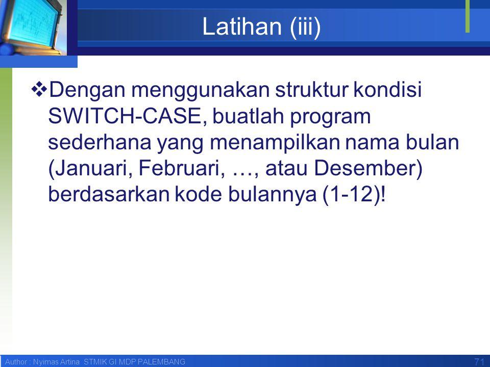 Latihan (iii)