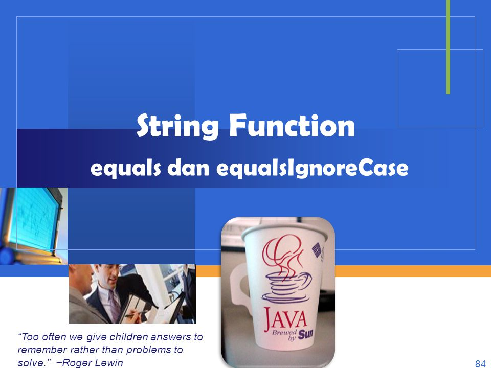 String Function equals dan equalsIgnoreCase