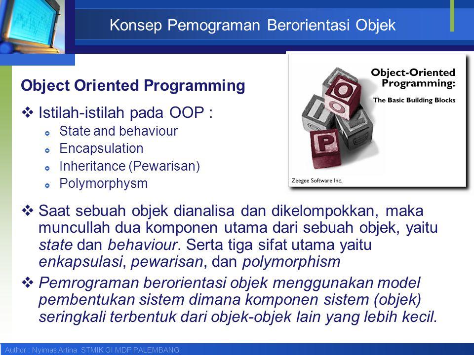 Konsep Pemograman Berorientasi Objek
