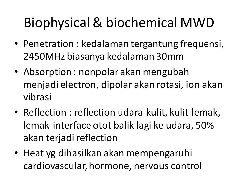 Biophysical & biochemical MWD