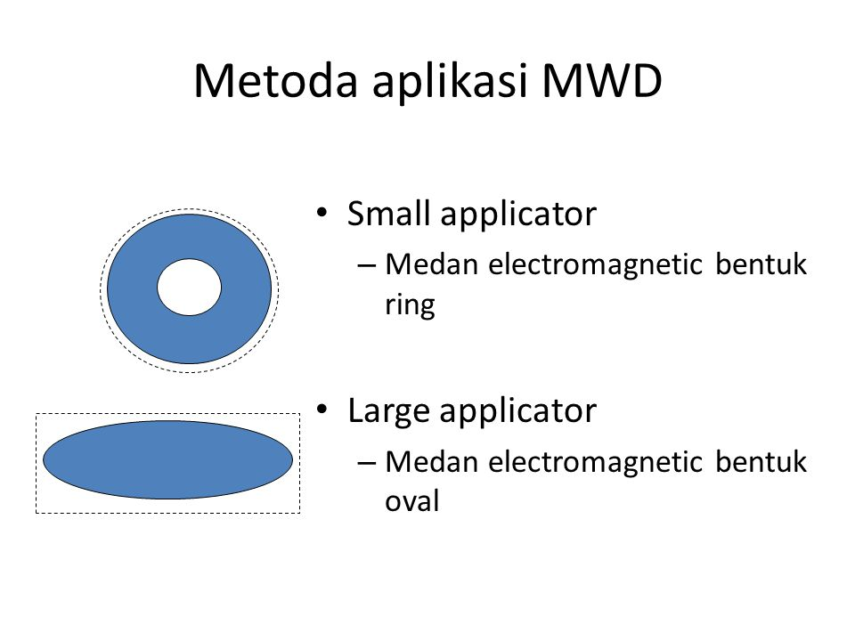 Metoda aplikasi MWD Small applicator Large applicator