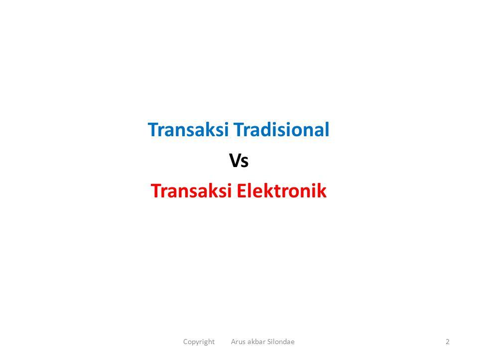 Transaksi Tradisional Vs Transaksi Elektronik