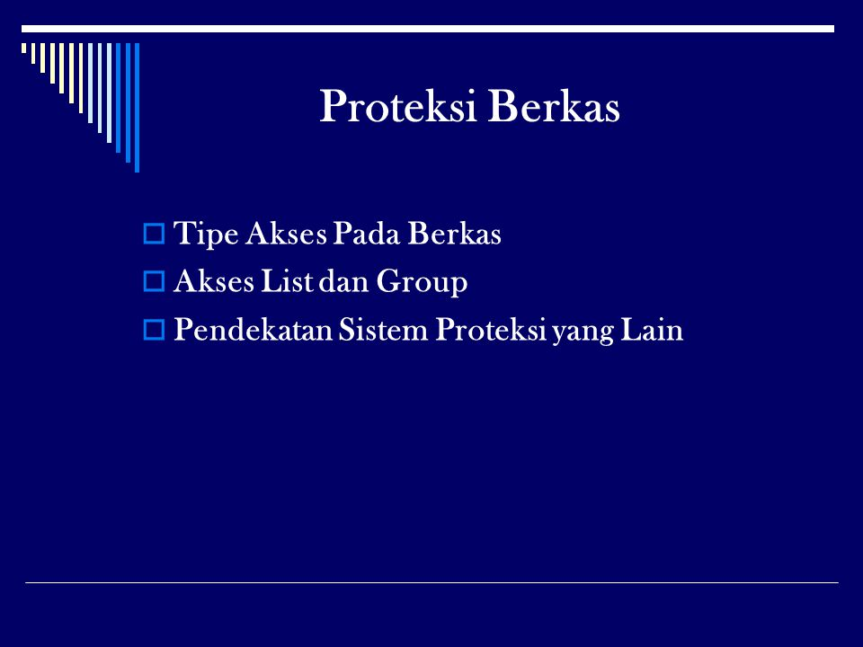 Proteksi Berkas Tipe Akses Pada Berkas Akses List dan Group