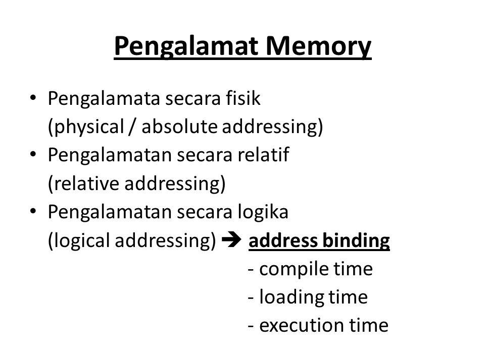 Pengalamat Memory Pengalamata secara fisik