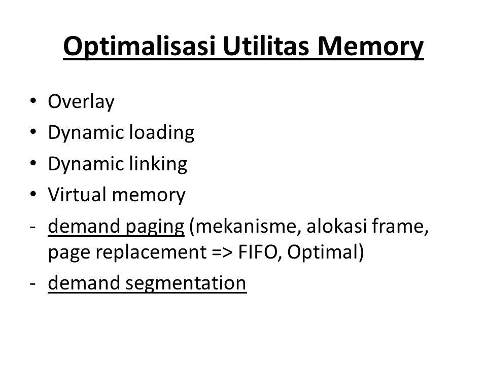 Optimalisasi Utilitas Memory