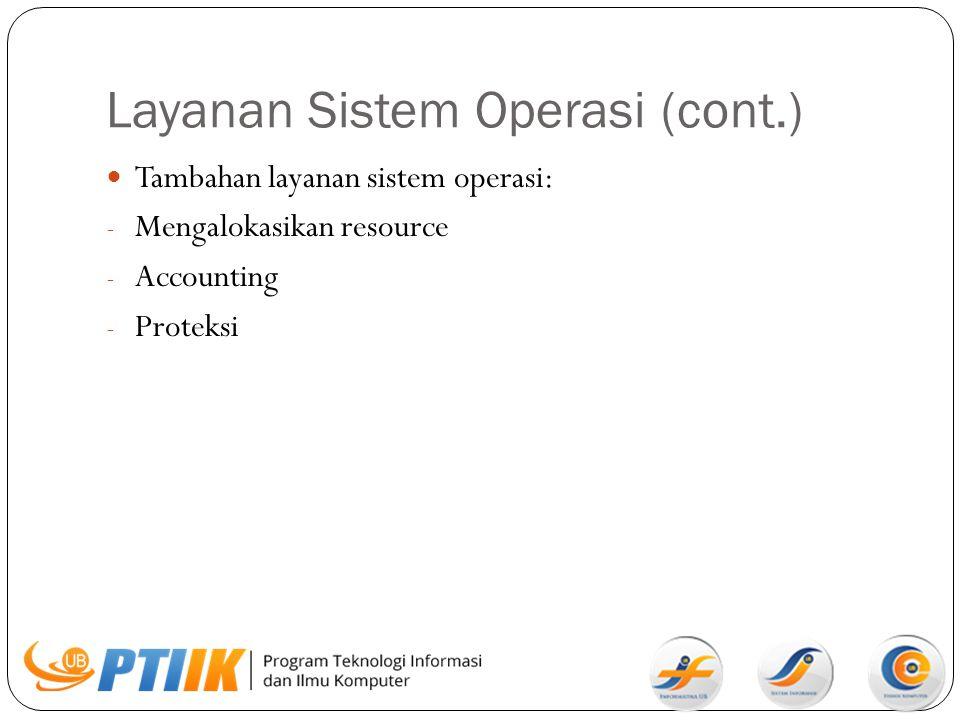 Layanan Sistem Operasi (cont.)