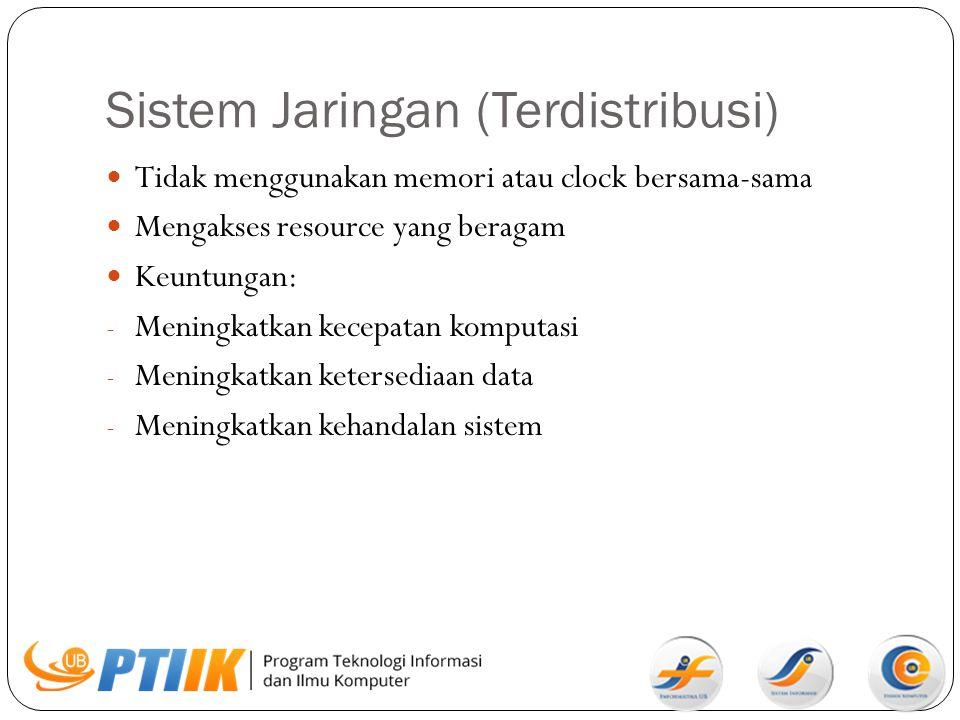 Sistem Jaringan (Terdistribusi)