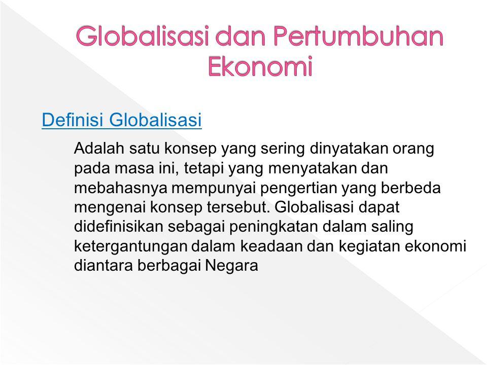 Globalisasi dan Pertumbuhan Ekonomi