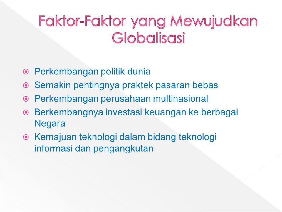 Faktor-Faktor yang Mewujudkan Globalisasi