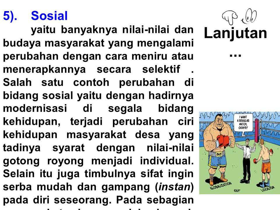 5). Sosial