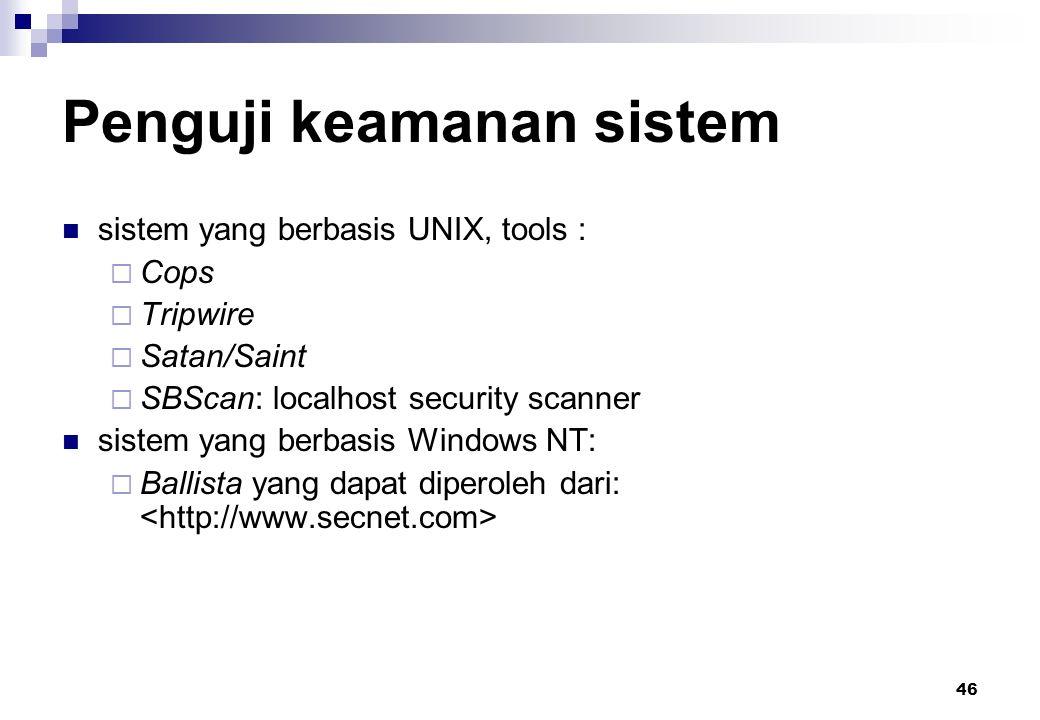 Penguji keamanan sistem